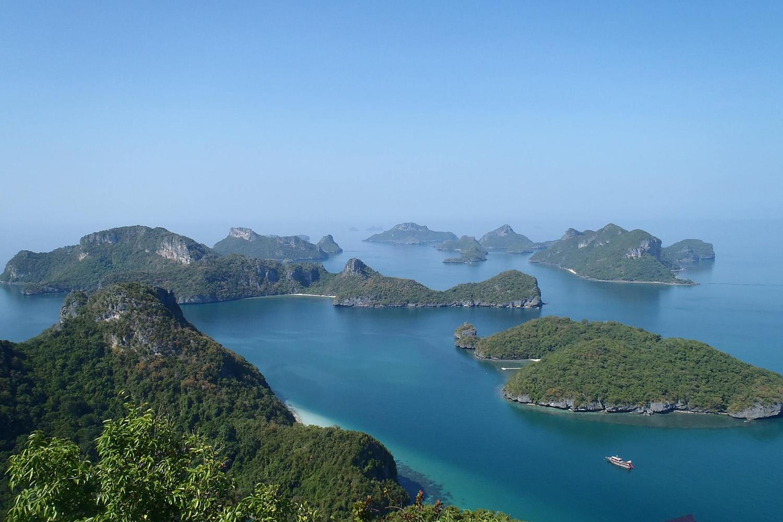 Vue sur le parc Ang Thong en Thaïlande. Le théâtre de jeu d'Eskapage Aventure