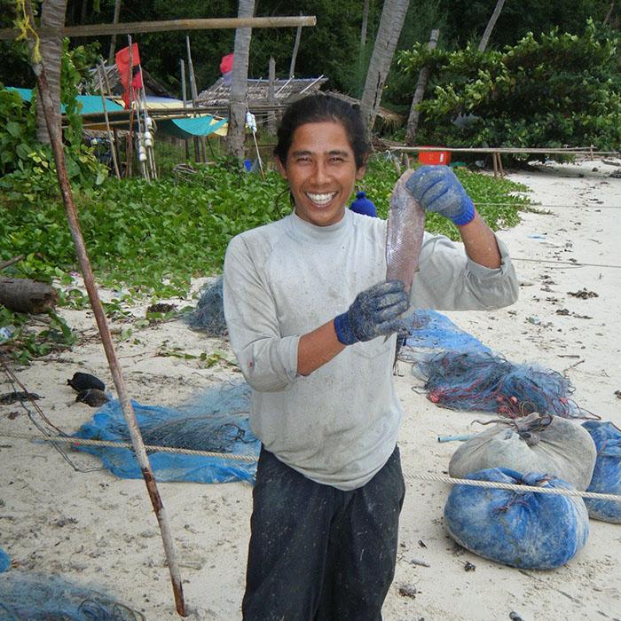Cuisine au poisson fraichement pêché
