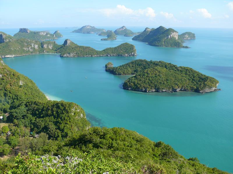 L'archipel de 42 îles du parc naturel d'Ang Thong en Thaïlande