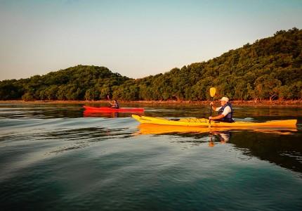 Couché de soleil en kayak de mer