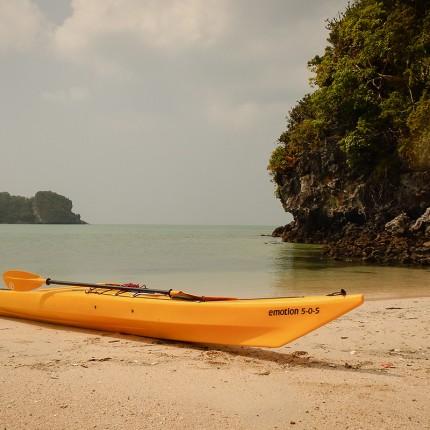 Kayaks de mer en Thaïlande